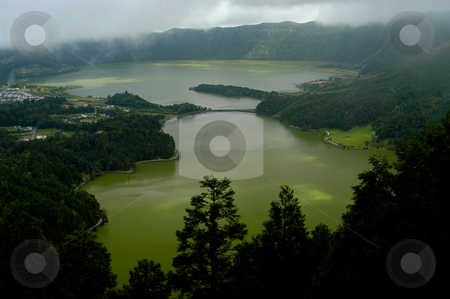 Lake stock photo, Azores seven city lake in s miguel island by Rui Vale de Sousa