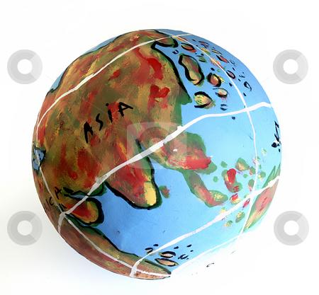 Globe stock photo, Earth world globe in a white beackground by Rui Vale de Sousa