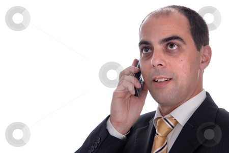 Call stock photo, Young business man speaking on a mobile phone by Rui Vale de Sousa
