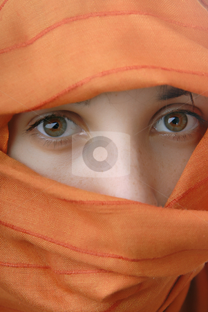 Arab stock photo, Young woman close up portrait, studio picture by Rui Vale de Sousa