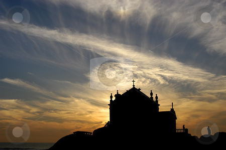 Silhouette stock photo, Beach church silhouette by Rui Vale de Sousa