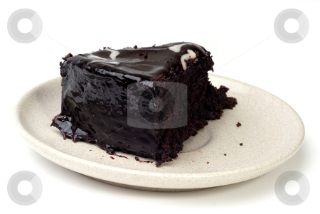 Cake stock photo, Slice of chocolate cake isolated on white by Rui Vale de Sousa