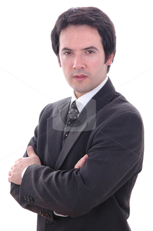 Male stock photo, Young business man portrait isolated on white by Rui Vale de Sousa