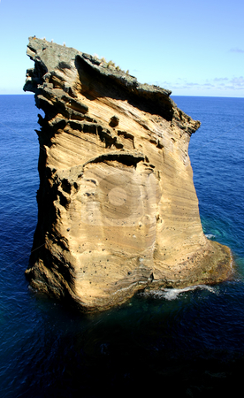 Rock stock photo, Big rock at the sea in azores island of sao miguel by Rui Vale de Sousa