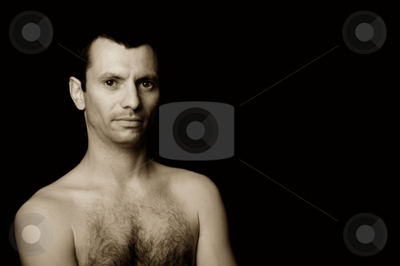Young stock photo, Young man model on a black background by Rui Vale de Sousa