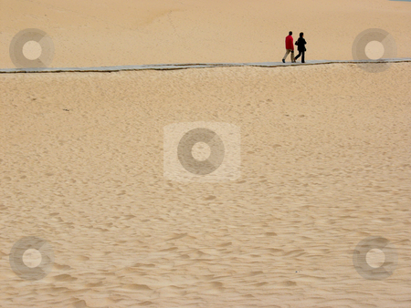 Couple stock photo, Couple in the sand by Rui Vale de Sousa