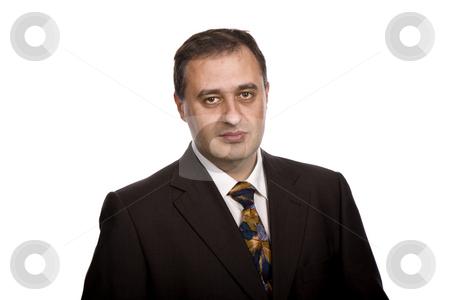 Portrait stock photo, Business man portrait in a white background by Rui Vale de Sousa