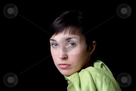 Portrait stock photo, Close up portrait of young beautiful woman by Rui Vale de Sousa