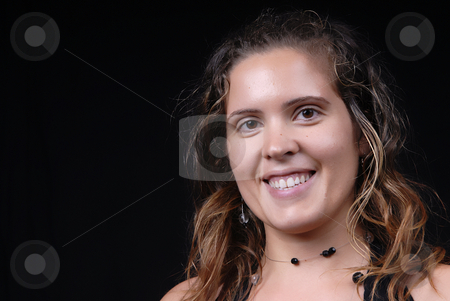 Casual stock photo, Young casual woman posing in black background by Rui Vale de Sousa