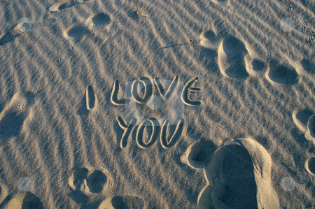 Love stock photo, I love you on the desert sand by Rui Vale de Sousa