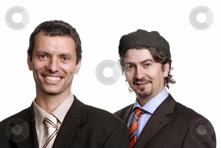 Workers stock photo, Two young business men portrait on white by Rui Vale de Sousa