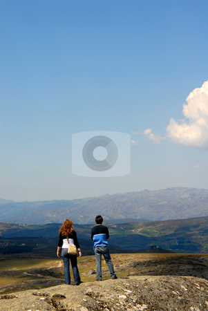 Couple stock photo, Couple in the mountains on the north of portugal by Rui Vale de Sousa