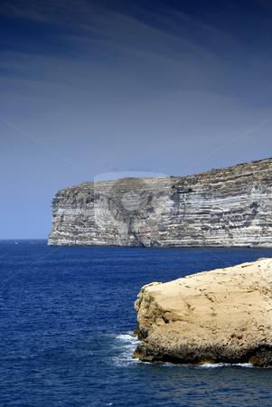 Cliffs stock photo, Malta island coastal view at Gozo island by Rui Vale de Sousa