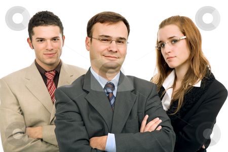 Business team stock photo, Young business team, isolated on white background by Rui Vale de Sousa