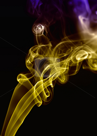 Smoke stock photo, Smoke from a cigarrette detail in black background by Rui Vale de Sousa