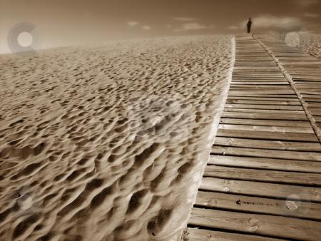 Sandman stock photo, Man in the dune by Rui Vale de Sousa