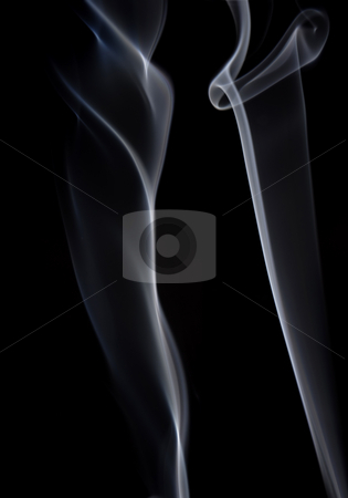 Smoke stock photo, White smoke from a cigarette in black background by Rui Vale de Sousa