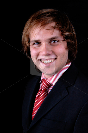 Young stock photo, Handsome young man isolatedon a black background by Rui Vale de Sousa
