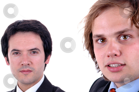 Men stock photo, Two young business man close up portrait by Rui Vale de Sousa