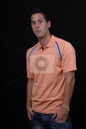 Casual stock photo, Young casual man isolated on black background by Rui Vale de Sousa