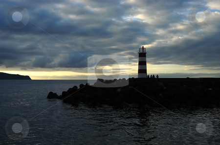 Sunset stock photo, Beautiful sunset at sea in azores islands by Rui Vale de Sousa