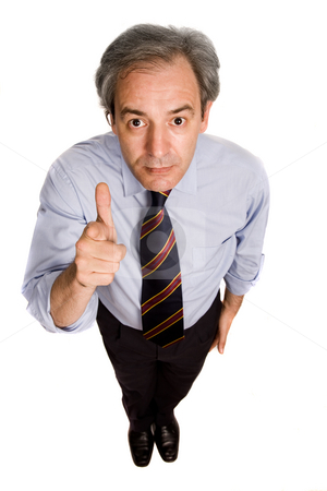 Thumb stock photo, Business man going thumbs up, isolated on white by Rui Vale de Sousa