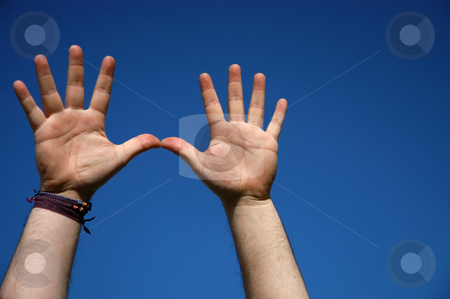 Hands stock photo, Hands and the sky by Rui Vale de Sousa