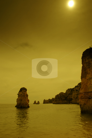 Coastal stock photo, Coastal rocks at algarve in the south of portugal by Rui Vale de Sousa