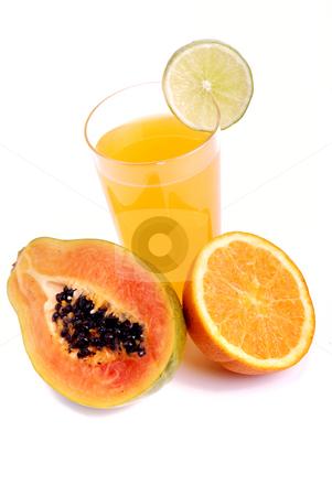 Orange stock photo, A glass of orange juice with cut fruits by Rui Vale de Sousa