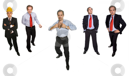 Mature man stock photo, Mature businessman in different positions, isolated on white by Rui Vale de Sousa