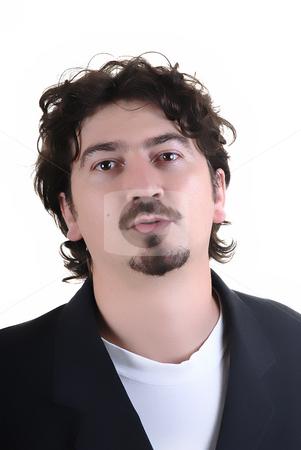 Portrait stock photo, Young man portrait in a white background by Rui Vale de Sousa