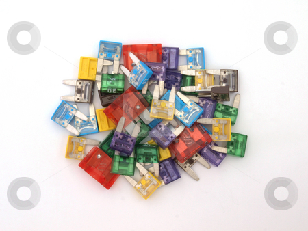 Assorted fuses    stock photo, Assorted fuses  that are mainly used in the auto trade. by Ian Langley
