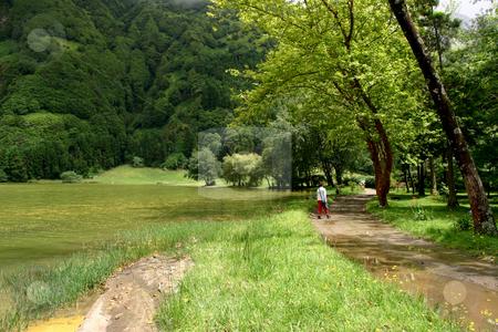 Girl stock photo, Girl at the lake by Rui Vale de Sousa