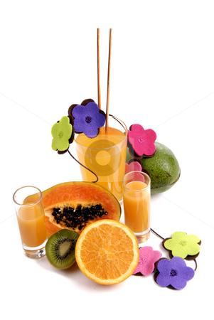 Fruits stock photo, A glass of orange juice with cut oranges by Rui Vale de Sousa