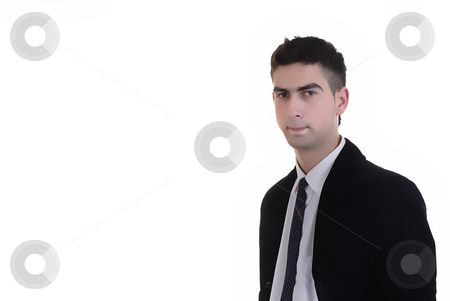 Man stock photo, Young business man portrait in white background by Rui Vale de Sousa