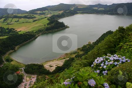 Lakes stock photo, Azores lakes by Rui Vale de Sousa