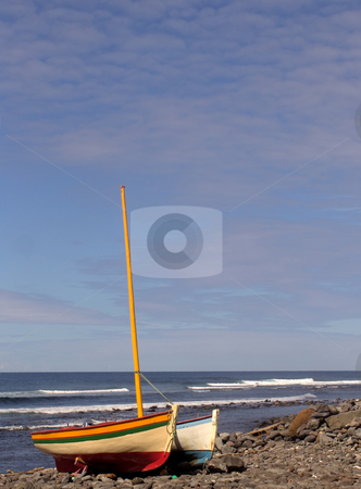Boats stock photo, Boats in land, azores coast by Rui Vale de Sousa