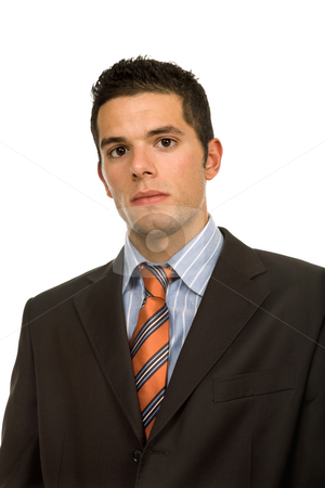 Business man stock photo, Young business man portrait in white background by Rui Vale de Sousa