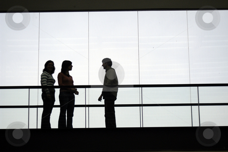 Sillouette stock photo, People in the building by Rui Vale de Sousa