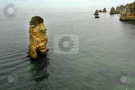 Rocks stock photo, Rocks at the coast of algarve in portugal by Rui Vale de Sousa
