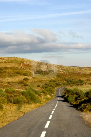 Road stock photo, Rural road at the north of portugal mountains by Rui Vale de Sousa