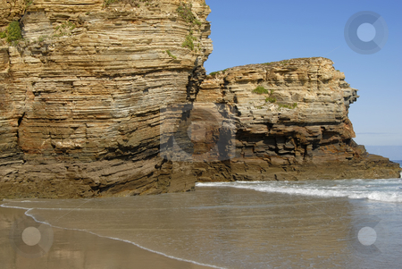 Wall stock photo, Small beach at algarve in the south of portugal by Rui Vale de Sousa