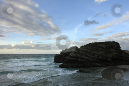 Beach stock photo, Coastal cliff in the portuguese coast at dawn by Rui Vale de Sousa