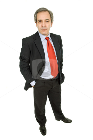 Mature business man stock photo, Mature business man isolated on white background by Rui Vale de Sousa