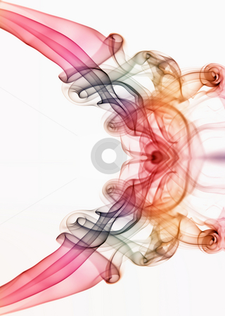 Smoke stock photo, Smoke from a cigarrette detail in white background by Rui Vale de Sousa