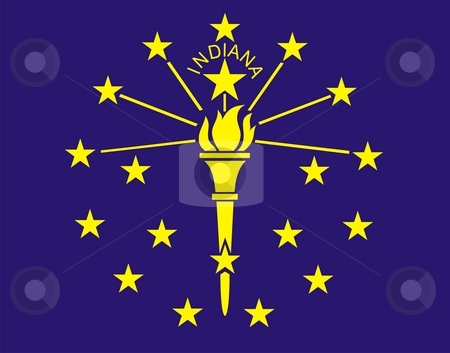 Indiana Flag stock photo, Very large 2d illustration of Indiana Flag by Tudor Antonel adrian