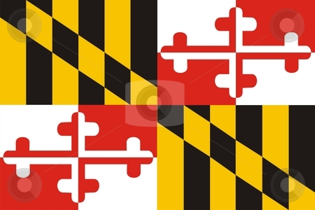 Maryland Flag stock photo, Very large 2d illustration of Maryland Flag by Tudor Antonel adrian