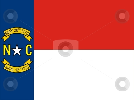 North Carolina Flag stock photo, Very large 2d illustration of North Carolina Flag by Tudor Antonel adrian