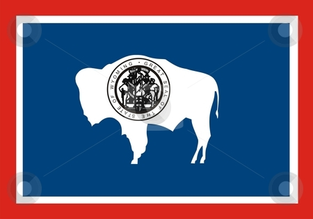 Wyoming Flag stock photo, Very large 2d illustration of Wyoming Flag by Tudor Antonel adrian