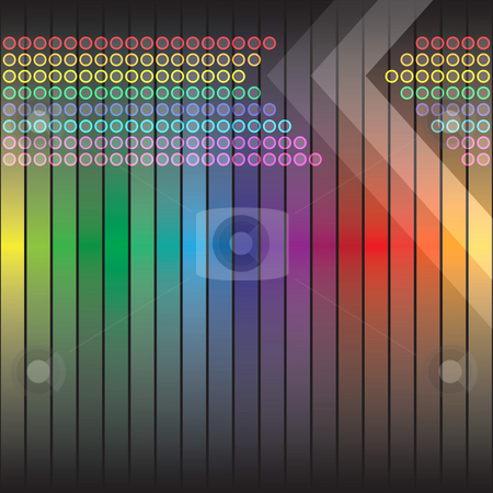 Funky Rainbow Backdrop stock photo, A rainbow colored abstract design template or layout. by Todd Arena